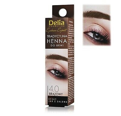 Delia Cosmetics Eyebrow Tint Powder Black Brown Eyelash Dye Kit with Activator 4