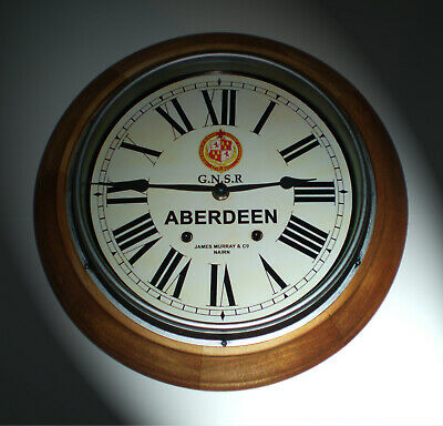 GNSR Great North of Scotland Railway Styled Station Wall Clock, ABERDEEN Station 2