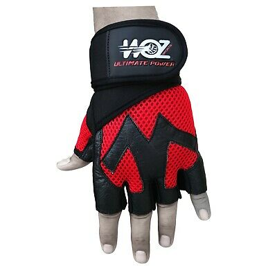 Leather Gym Gloves Weight Lifting Gloves Body Building Training Exercise Workout 4