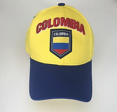 ... Colombia Cap Soccer Hat Cap Yellow Blue world cup Flag James Rodriguez  10 yellow dc968bbb5bc
