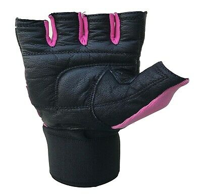 Leather Gym Gloves Weight Lifting Gloves Body Building Training Exercise Workout 6