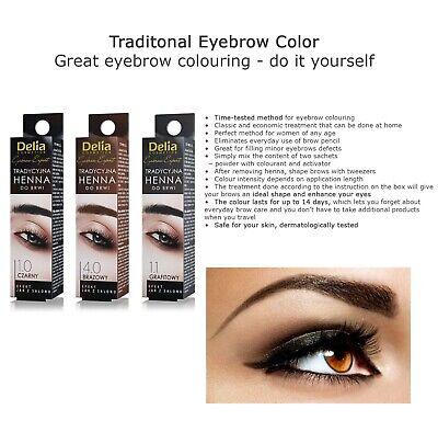 Delia Cosmetics Eyebrow Tint Powder Black Brown Eyelash Dye Kit with Activator 2