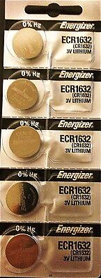 Energizer ECR1632 CR 1632 (2 piece) Lithium 3V Battery New Authorized Seller