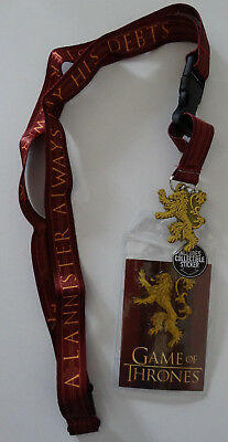 Game of Thrones House of Lannister ID Badge Holder Keychain Lanyard