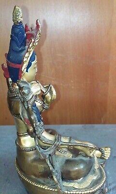 Antique Brass metal gold Whiter Dumu Statue 铜鎏金白度母菩萨像  铜 像 7