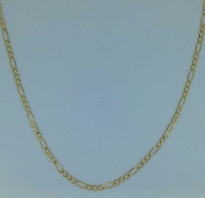 39bf8e17e72db 375 SOLID 9CT Yellow Gold Figaro Chain Link Necklace 16