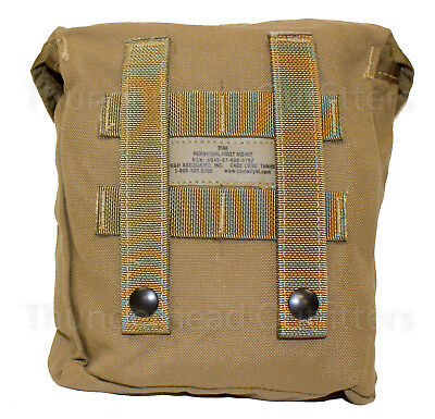 USMC INDIVIDUAL FIRST Aid Kit Pouch IFAK Coyote MOLLE Utility BLACK Buckle  NEW
