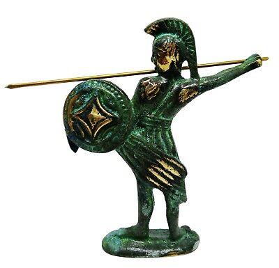 Ancient Greek Bronze Museum Statue Replica of Leonidas King of Sparta