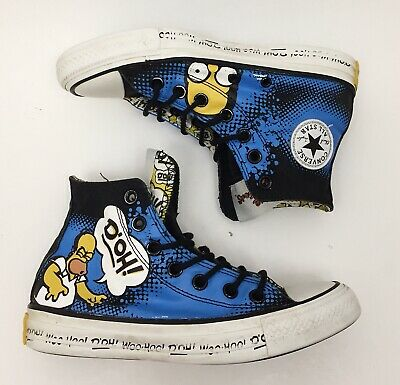 THE SIMPSONS X Converse Chuck Taylor All Star Homer Mens 4 Womens 6 Canvas Shoes