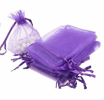 50/100 Organza Wedding Xmas Party Favor Gift Candy Bags Jewellery Packing Pouch 5