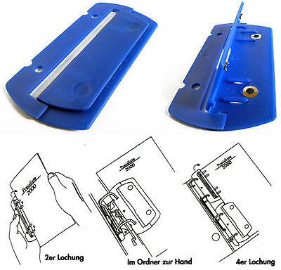 schwarz je 1x blau abheftbar Farbe 2x Herlitz Taschenlocher Mini Locher