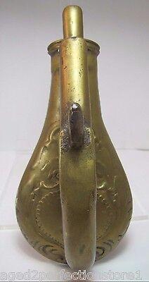 Old Cast Brass Pistol and Gun Powder Flask Door Knocker heavy solid unusual dsn 3