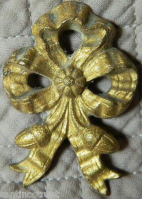 Antique Set Of 2 Gilded Bronze Knots Embrace Or Furniture Brackets  Louis Xvi 3