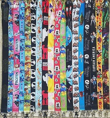 Pick One! Disney World Lanyard For Pin Trading! Stitch Princesses Goofy B3G1