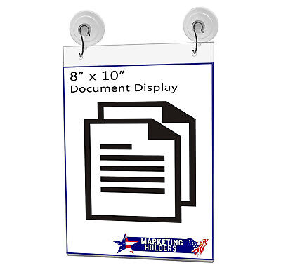 """Ad Frame Sign Holder Wall Mount 8""""W x 10""""H with Hooks and Suction Cups 9"""