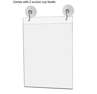 """Ad Frame Sign Holder Wall Mount 8""""W x 10""""H with Hooks and Suction Cups 5"""