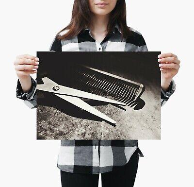 A4| Hairdresser Shop Poster Size A4 Salon Barber Student Poster Gift #15841 2