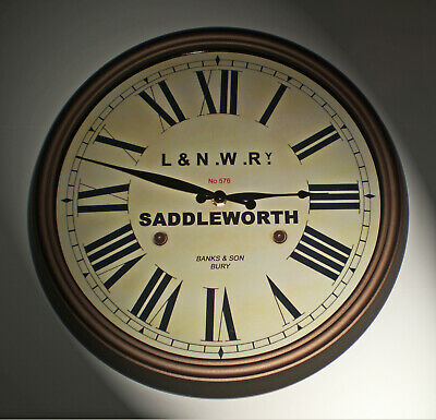 London & North Western Railway Victorian Style Clock, Saddleworth Station 2