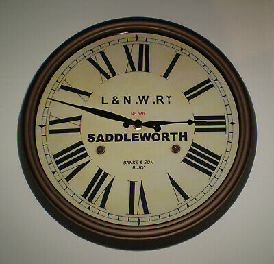 London & North Western Railway Victorian Style Clock, Saddleworth Station 3
