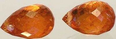 2 Antique 19thC Bavaria Spessart Ancient Anglo-Saxon Royal Gem + Travel Talisman 2