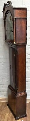 * Antique Somerset 8 DAY Inlaid Oak Grandfather Longcase Clock SULLEY of STOWEY 11