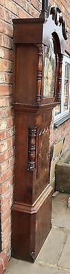 Antique 8 Day Rolling Moon Grand Father Clock By Price Of Chester 12