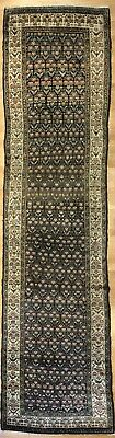 Magnificent Malayer - 1900s Antique Kurdish Runner - Persian Rug - 3.2 x 13.4 ft