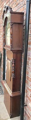 Antique 8 Day Rolling Moon Grand Father Clock By Price Of Chester 11
