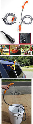 Automobile Shower Set Portable Travel Trip Camp Boat Car Caravan 12V Water Pump