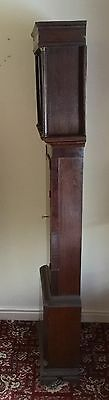 Antique Oak & Mahogany inlaid Longcase Grandfather Clock C Johnson CONGLETON 8