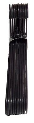 Black Adult Plastic Clothes Coat Trousers Hangers W Trouser Bar & Lips 3