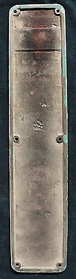 "3.5""x16"" Antique Chrome plated SOLID Cast Brass Door Push Cover Plate Escutcheon"