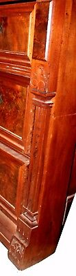 Antique American Victorian Eastlake Walnut & Rose Marble-Top Dresser 5