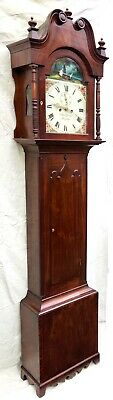 ~ Antique Mahogany ROCKING SEESAW Longcase Grandfather Clock GARMAN MEONSTOKE 2