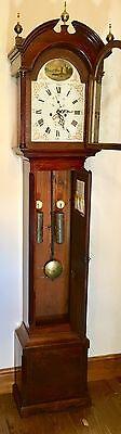 # Antique Mahogany Gesso Dial Longcase Grandfather AGAR MALTON 5 PILLAR MOVEMENT 7
