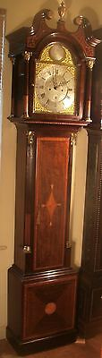 """Antique Mahogany Brass Dial """"Month Duration """" Longcase / Grandfather Clock 3"""