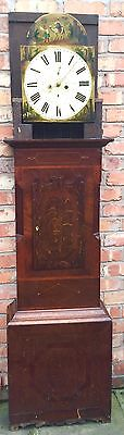 Oak & Mahogany 8 Day Inlaid And Cross Banded Long Case Grandfather Clock 8