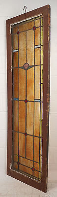 Tall Vintage Stained Glass Window Panel (2885)NJ 2