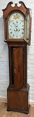 * Antique Somerset 8 DAY Inlaid Oak Grandfather Longcase Clock SULLEY of STOWEY 5