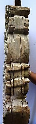 Bracket Wooden Carved Corbel Indian Vintage Mughal Art Architectural Collectible 9