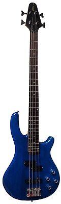 E Bass Bassgitarre Bass Set Elektrobass Verstärker Dunkelblau Tasche Band Tuner 2
