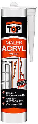 Acryl Bauacryl 20 x Dichtmasse EUR 3,96/ltr T0P Maleracryl Fugendicht 300ml weiß