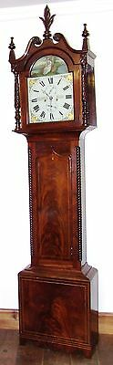 Antique Inlaid Mahogany 8 Day Longcase Grandfather Clock THOMAS DE GRUCHY JERSEY