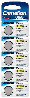 Camelion Lithium Knopfzellen 3V CR Edelstahl Batterien für Alarmanlagen Computer 6