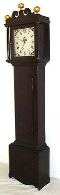 Early Petite Antique Oak Longcase Grandfather Clock 2 • £395.00