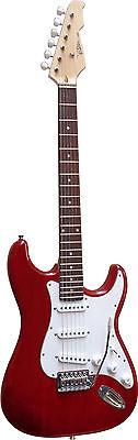 E-Gitarre ST5DRT- dunkelrot, Massivholzkörper, Anschlußkabel- by Vision-MSA!n 2