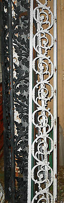 One Vintage Cast Iron Fence/panel Section Swirl 7 3/4 X 18 Salvaged Steam Punk 4