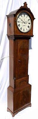 ~ Antique Inlaid Mahogany Longcase Grandfather Library Clock : DARLING EDINBURGH 2
