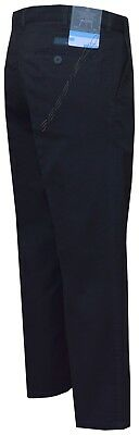 Mens Chino Classic Fit Trouser Casual 100% Cotton 30-46 Active Elasticated Waist 2