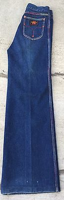 "VTG Union Gap Wide Leg Jeans Colorful Stitching Size 30 27 1/2"" Waist High Waist"